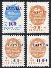 Latvia 1991 Train/Plane/Horse/Ship/Transport/Rail/Aviation 4v set surch  n27381