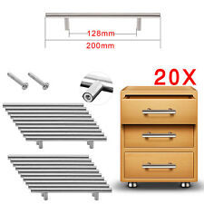 T Bar Kitchen Bathroom Cupboard Cabinet Drawer Door Handle Pull Stainless Steel