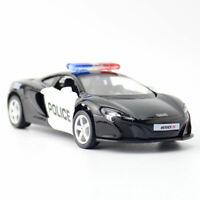 McLaren 650S Police Car 1:36 Model Car Diecast Gift Toy Vehicle Kids Pull Back