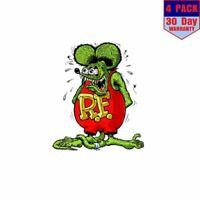 Rat Fink 4 Stickers 4x4 Inch Sticker Decal