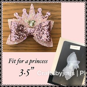 Plastic hair bow template FIT FOR A PRINCESS