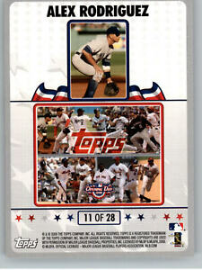 2008 Topps Opening Day  Puzzle #11 of 28 Alex Rodrigues - New York Yankees