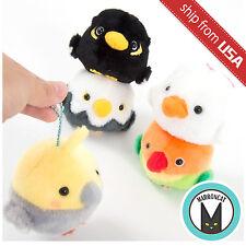 "Genuine 3.6"" Kotori Tai Soreyuke Amuse Fluffy Bird Plush Ball Chain Kawaii Cute"