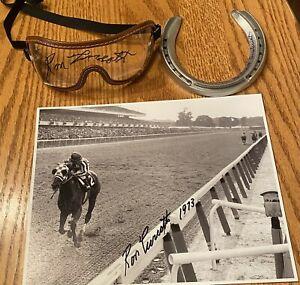 Secretariat signed Photo, Goggles &  horseshoe (3 items signed !) RON TURCOTTE
