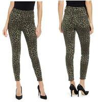Good American GOOD WAIST Skinny Jeans Ankle Leopard Print Flattering Size 14 NWT
