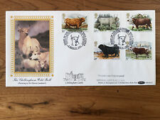 GB 1984 Cattle Benham Chillingham Wild Bull Castle stamp First Day Cover