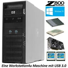 HP Z800 Workstation PC 2x Xeon X5675 RAM 96GB SSD 512GB AMD RX580 8GB USB3.0 W10