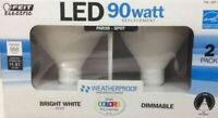 Feit Weatherproof 2-Pack 15-Watt 3000K Bright White Par38 LED Light Bulbs 90W