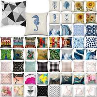 Geometric Pink Alphabet Pattern Pillow Case Sofa Throw Cushion Cover Home Decors