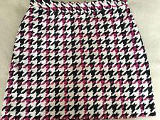 Women's Sz 6 Ep Pro White/Black/Pink Houndstooth Print Golf Skort