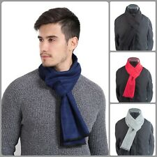 Men Scarf For Winter Elegant Soft Warm Neck Cover Solid Classic Scarves Simple