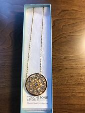 Touchstone Crystal Gold Filigree Necklace