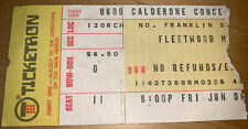1975 Fleetwood Mac Calderone Hempstead Ny Concert Ticket Stub June 6 1975 Nyc