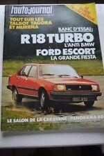 L AUTO JOURNAL 17 1980 R 18 TURBO FORD ESCORT COUPE AUDI VOLVO 345 244 TRAFIC