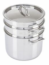 Viking 3-Ply Stainless Steel Pasta Pot with Steamer, 8 Quart
