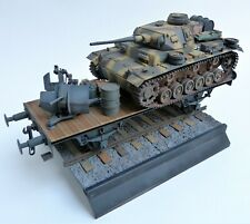 1/35 – German – Panzer III, Flatbed with Flak 38 + stowage - built/painted model