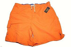 Mens Polo Ralph Lauren Swim Trunks Board Orange Swimming Shorts 1XB 1X NWT