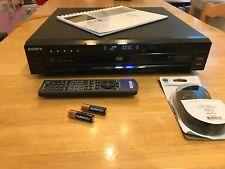 New listing Sony Dvp-Nc685V 5-Cd/Sacd/Dvd Player with Remote, Instructions, and Video Cable