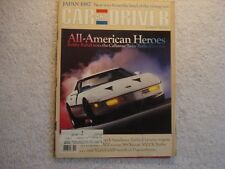 Car and Driver 1986 November Callaway Turbo Corvette, Plymouth Sundance Turbo