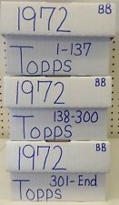 1972 Topps Baseball Lot Pick 15 Cards Finish Your Set EXCELLENT+ !SHARP!