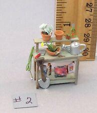 Dollhouse Miniature 1/4 scale garden potting bench #2