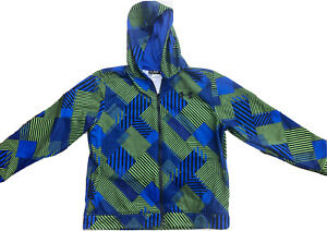 Under Armour Youth Boys YXL Zip Up Hoodie UA Storm Blue & Green Loose Hoodie
