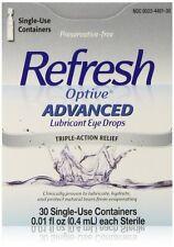 Refresh Optive Advanced Lubricant Eye Drops, 30ct