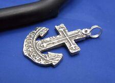 Cross Anchor Pendant Cut Out from Atocha Shipwreck Pirate Coin Cob Replica .925