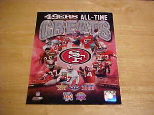 San Francisco 49ers All-Time Greats LICENSED 8X10 Photo FREE SHIPPING 3/more