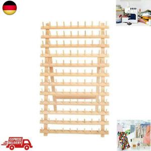 120 Garnrollen Holz Garnrollenhalter mit Wandaufhänger Spulen Nähgarnr Faltbare