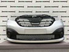 RENAULT TRAFIC 2015-2018 FRONT BUMPER IN SILVER GENUINE COMPLETE [R112]