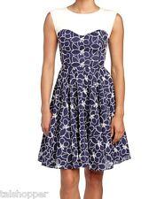 NEW 12 $370 Eva Franco Anthropologie Strata Jane Gorgeous Fit & Flare Dress