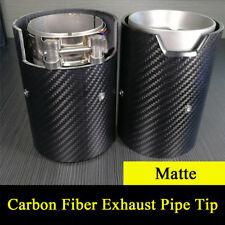 "Matte Carbon Fiber 2.5"" Car Exhaust Pipe Muffler For BMW M2 F87 M3 F80 M4 F82"