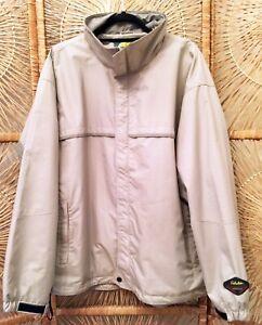 Cabela's Men's Dry-Plus System Coat Jacket Large Beige Waterproof Breathable