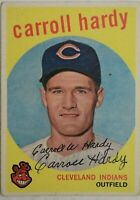 Carroll Hardy Cleveland Indians Signed 1959 Topps #168 Autographed Card