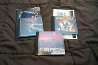 3x Vintage Sierra Games: Thexder 95, Earthsiege 2, Outpost - Windows CD-ROM