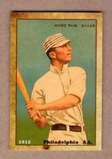 "1912 Frank ""Home Run"" Baker, Philadelphia Athletics, scarce Centennial reprint"