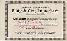 LAUTERBACH, Werbung 1924, Flaig & Cie. Gold-Politur-Leisten-Fabrik