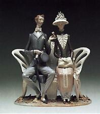 LLADRO ENDEARING, RARE+MAGNIFICENT FALL LEAVES/LOVERS IN THE PARK-#01001274