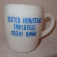 Dexter Industries Employees Credit Union Coffee Mug 9 oz Cup Milk Glass