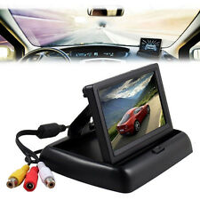 """4.3"""" TFT LCD Foldable Monitor For Car Reverse Rear View System Camera GPS DVD*"""