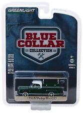 1:64 GreenLight *BLUE COLLAR 5* GREEN 1963 Dodge D-100 w/Ladder Rack  *NIP*