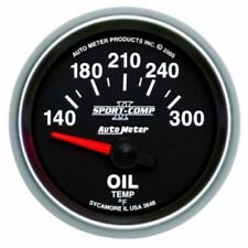 "Auto Meter 3648 2-1/16"" Sport-Comp II Electric Oil Temperature Gauge, 140-300 °F"