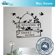 Wall Stickers Removable Welcome Sweet Home Living Room Decal Picture Art