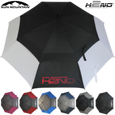 "SUN MOUNTAIN 2020 H2NO 68"" DUAL CANOPY AUTO OPEN GOLF UMBRELLA - ALL COLOURS"