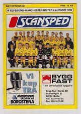 Orig.PRG    04.08.1992    IF ELFSBORG - MANCHESTER UNITED FC  !!  SEHR SELTEN