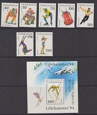 OLYMPICS :TNZANIA 1984  Winter Olympics Games set+MS  SG1737-43+MS1744 MNH