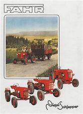 FAHR Schlepper Traktor Blechschild 8x11 cm Blechkarte Sign PC-201/535