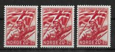 NORWAY 1941 Mint LH Legion 20 + 80 Lot of 3 Stamps Michel #236 VF