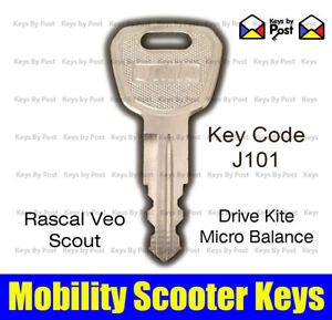 J101 KEY MICRO BALANCE RASCAL VEO, DRIVE KITE SCOUT, BETTERLIFE MOBILITY SCOOTER